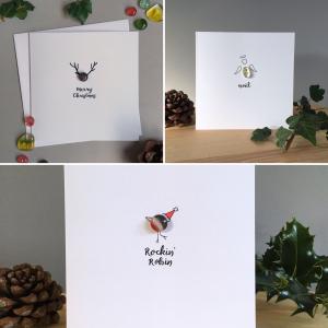 Glass Christmas card set