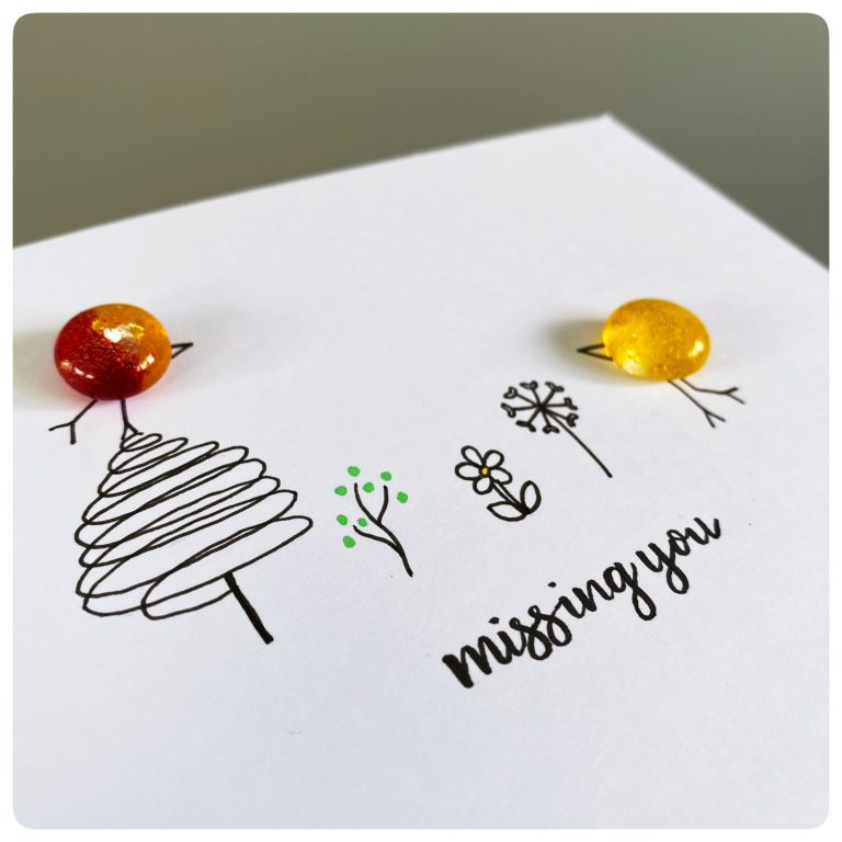 Missing you greetings card