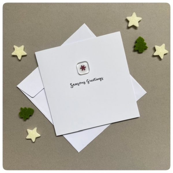 Glass snowflake Christmas card with envelope