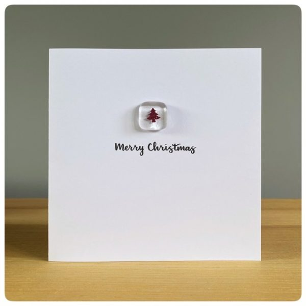 Glass Christmas Tree card