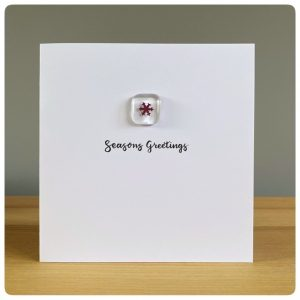 Glass snowflake Christmas Card
