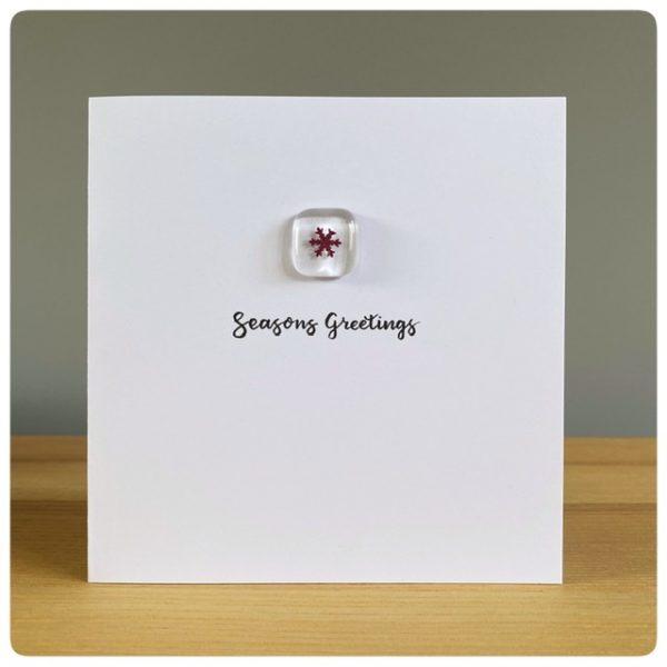 Glass snowflake Christmas Card
