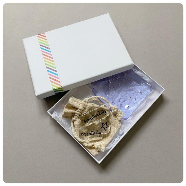 Purple glass gift set