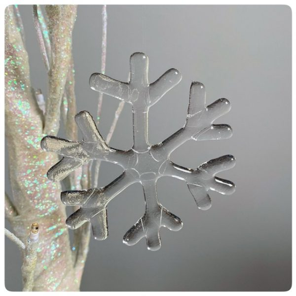 Glass snowflake decoration