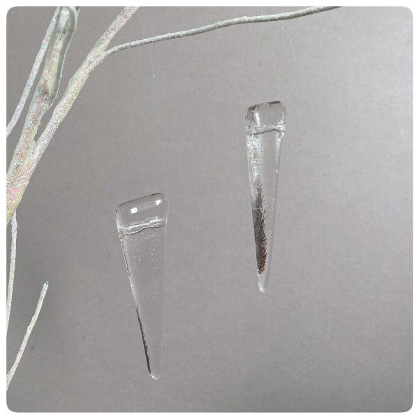 Clear glass icicles