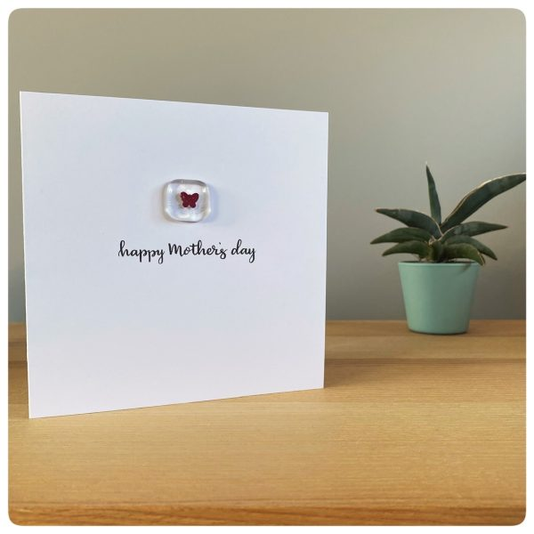 Mother's Day card with copper butterfly