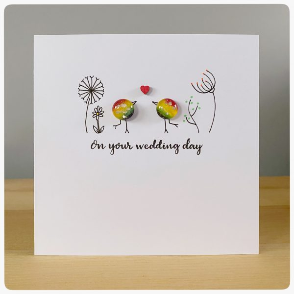 Rainbow wedding card